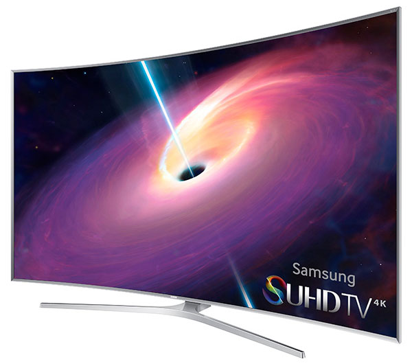 Samsung 4K SUHD JS9500 Series Curved Smart TV 88 inch perspective shot