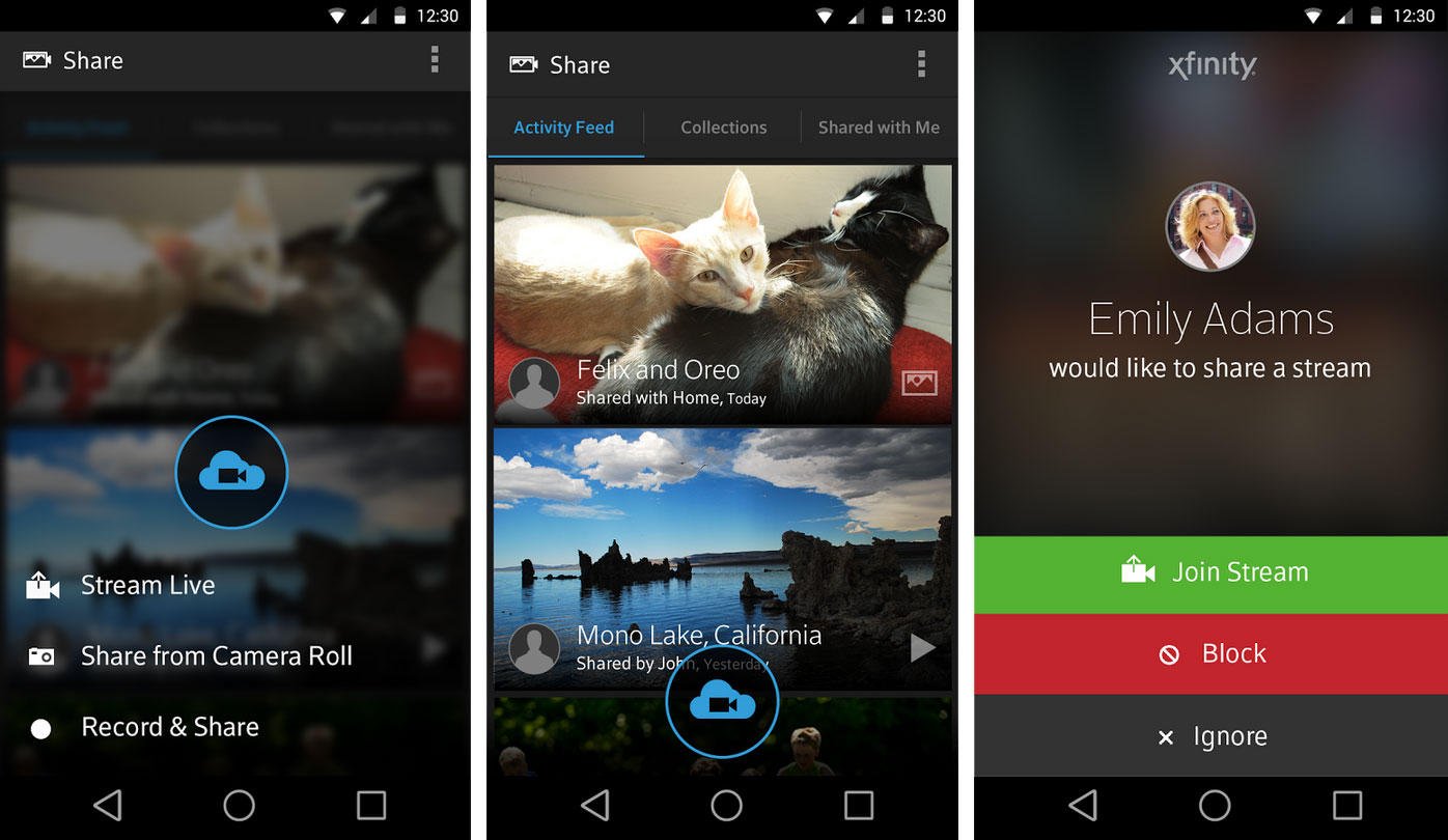 X1 Photos Mobile App >> Comcast Xfinity Share App Allows Live Mobile To Mobile Video