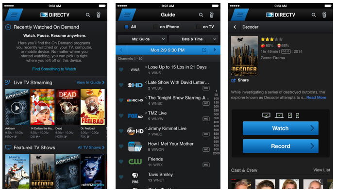 DirecTV app update for iPhone supports Apple Watch