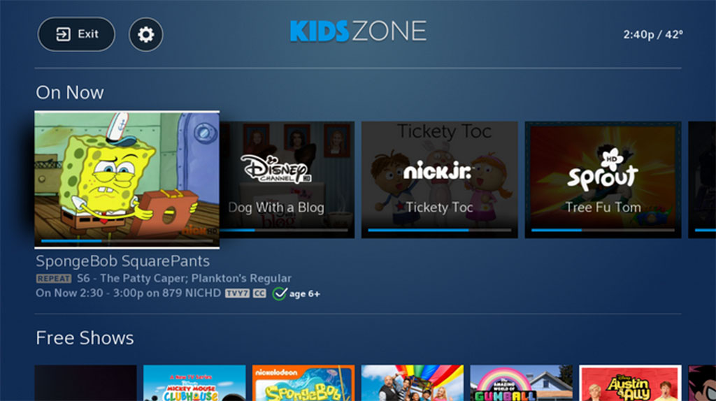 Comcast Kids Zone moved from Beta testing