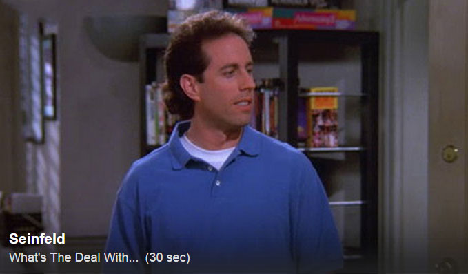 Seinfeld Hulu Clip What's the Deal With