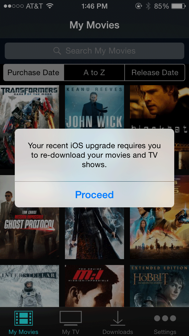 vudu ios re-download movies