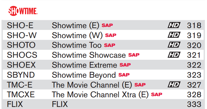 dish network offers preview of showtime channels � hd report