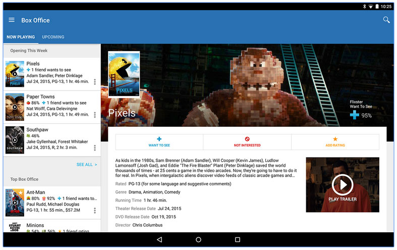 Flixster app updated for Android devices
