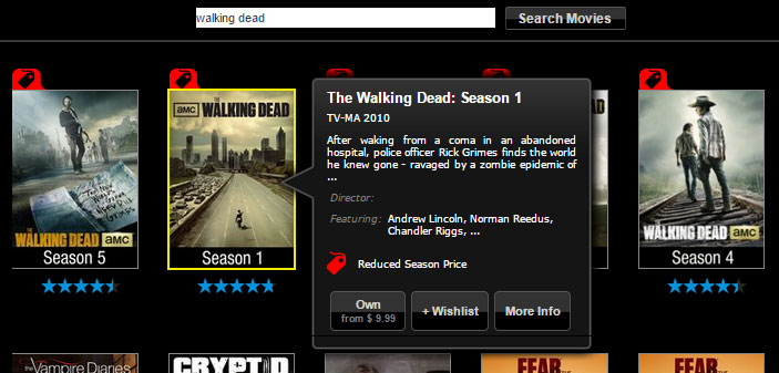 Vudu selling 'The Walking Dead' Seasons as low as $9.99