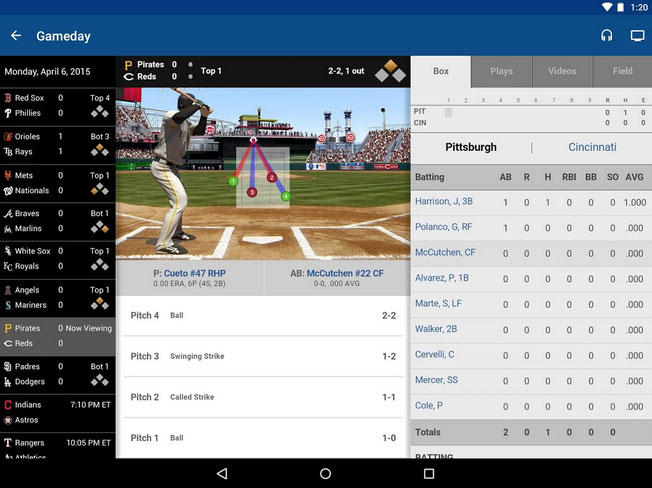 MLB.com At Bat updated for Android & Apple iOS
