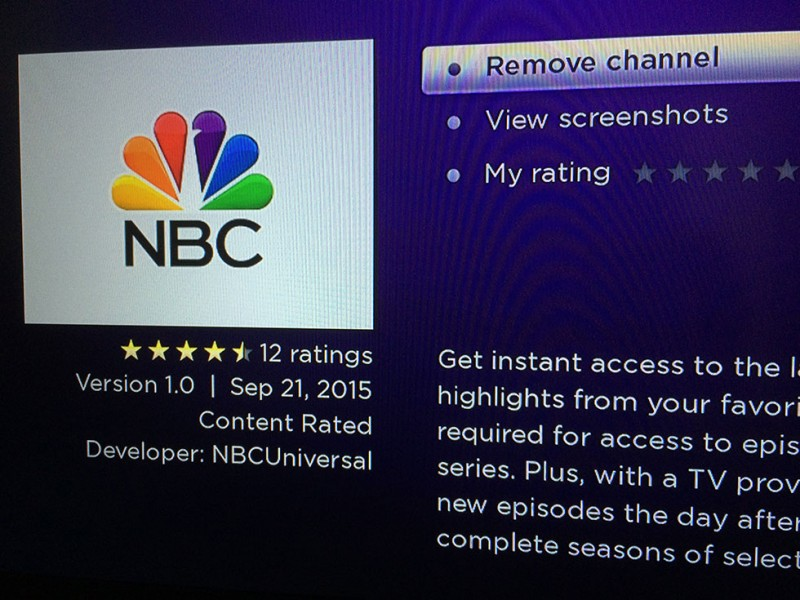 NBC Streaming App Channel Added to Roku