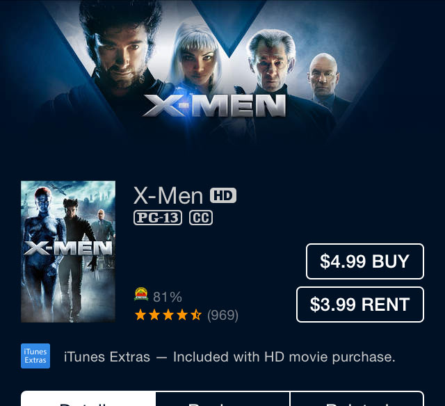 'X-Men' Digital HD is just $4.99 today on iTunes [Expired]