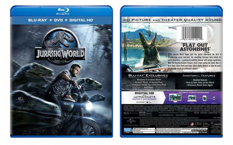Giveaway: 'Jurassic World' Blu-ray Combo Edition w/Digital HD