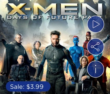 X-Men: Days of Future Past Digital HD $3.99 on Apple iTunes