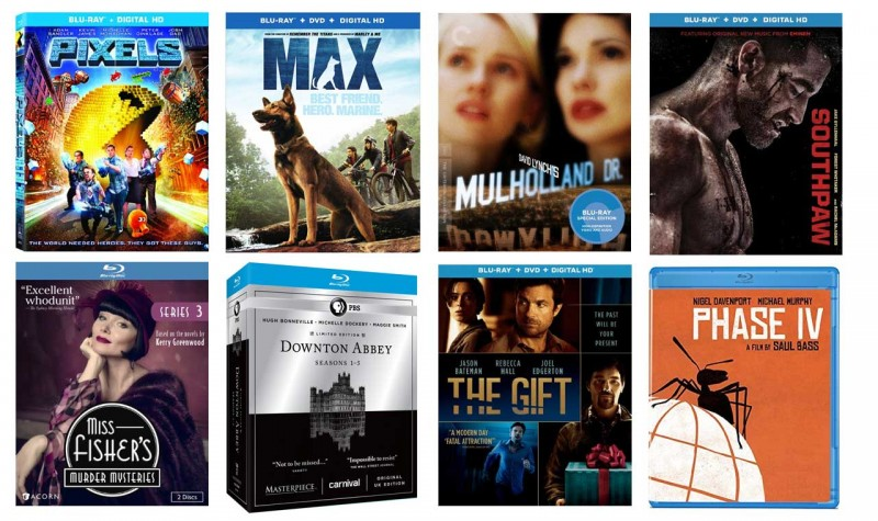 New on Blu-ray: Pixels, Max, Southpaw & more