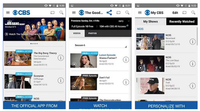 cbs-app-android-phone-screens