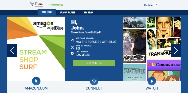 Amazon Prime members can stream on JetBlue flights