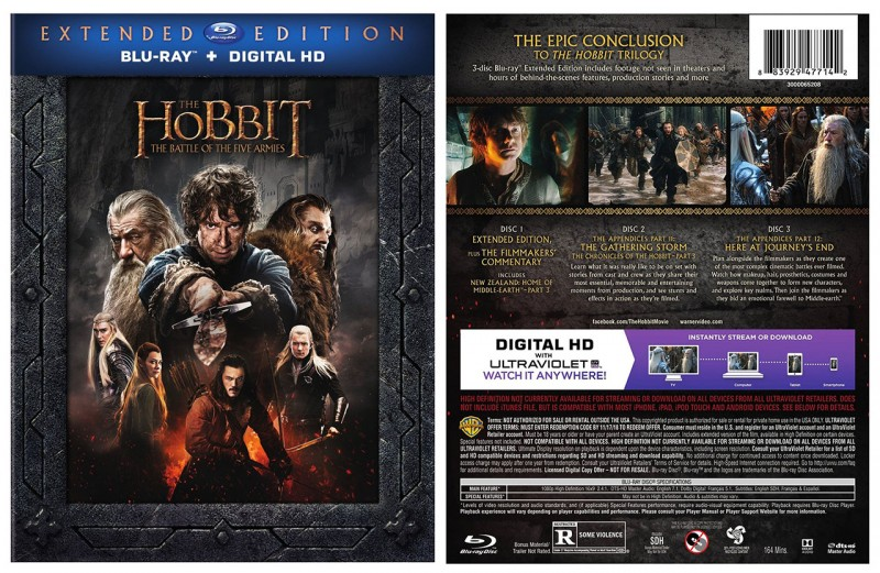 'The Hobbit: The Battle of the Five Armies Extended Edition' arrives on Blu-ray