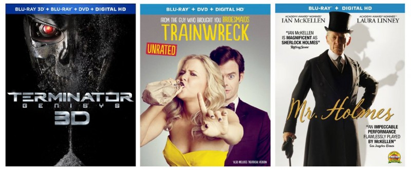 New On Blu-ray This Week: Terminator Genisys, Trainwreck, Mr. Holmes, & more