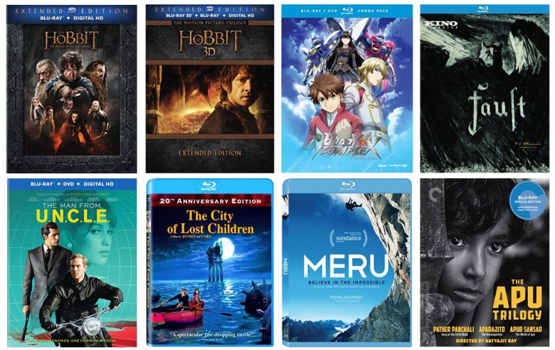 New on Blu-ray: The Hobbit Five Armies Extended, Man From U.N.C.L.E., & more