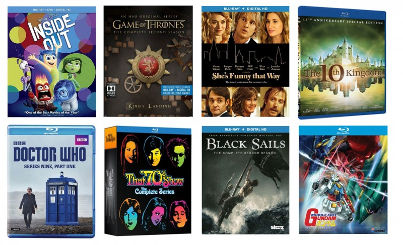 New on Blu-ray: Inside Out, Game of Thrones Steelbook, & more