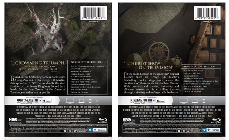 Game of Thrones Steelbook Editions Released to Blu-ray – HD Report