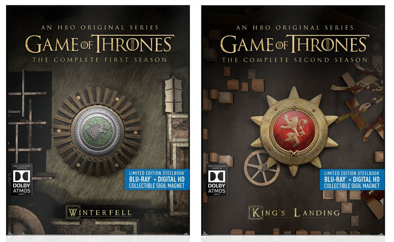 Game of Thrones Steelbook Editions Released to Blu-ray