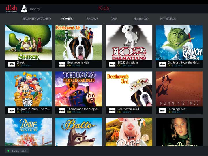 DISH adds Kids' Profiles to Anywhere apps and website