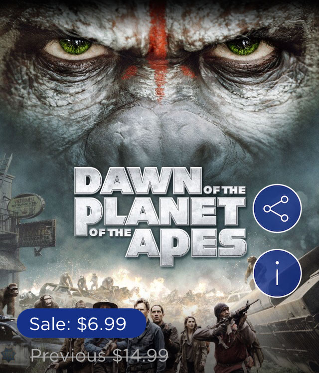 Fox Digital offers 1-Day Deal on 'Dawn of the Planet of the Apes' [Expired]