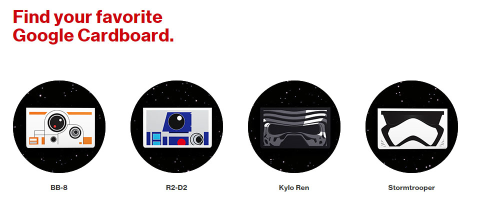 Google Cardboard Viewers Still Available at Verizon Stores for Star Wars VR
