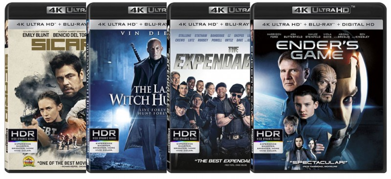 Here's the packaging for Lionsgate's first 4k Ultra HD Blu-ray titles