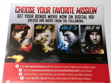Paramount's Mission Impossible Bonus Digital Movie Expires Soon