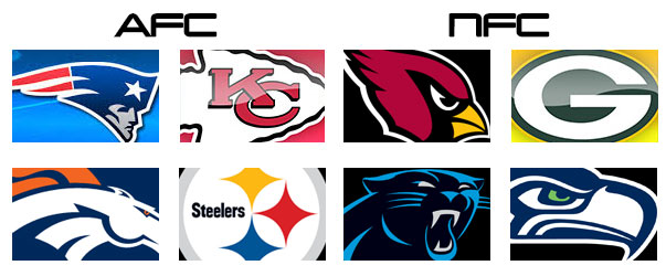 NFL Divisional Playoffs 2015/2016 Weekend Schedule