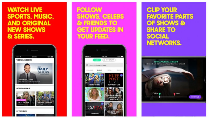 Verizon's go90 app Improves Search and Streaming