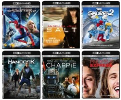 1st 4k Ultra HD Blu-ray movies released by Sony Pictures