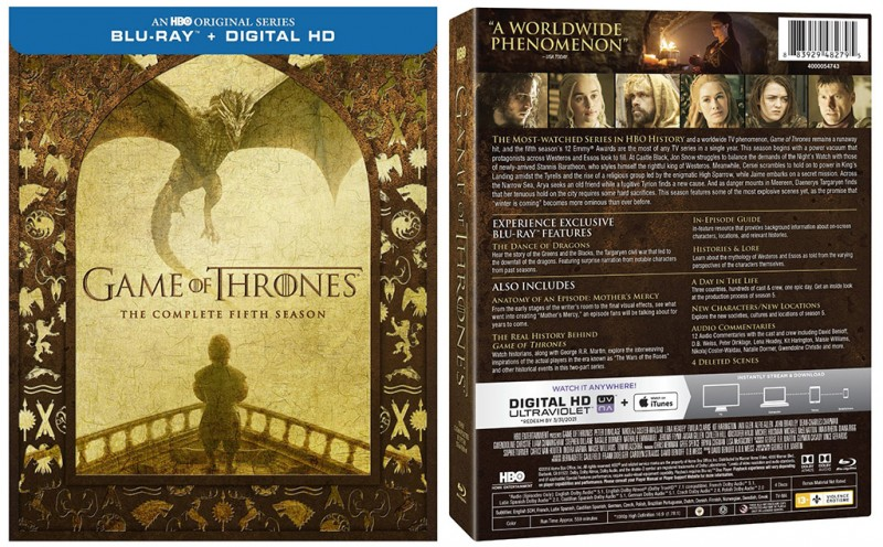 Game of Thrones: Season 5 now available on Blu-ray Disc