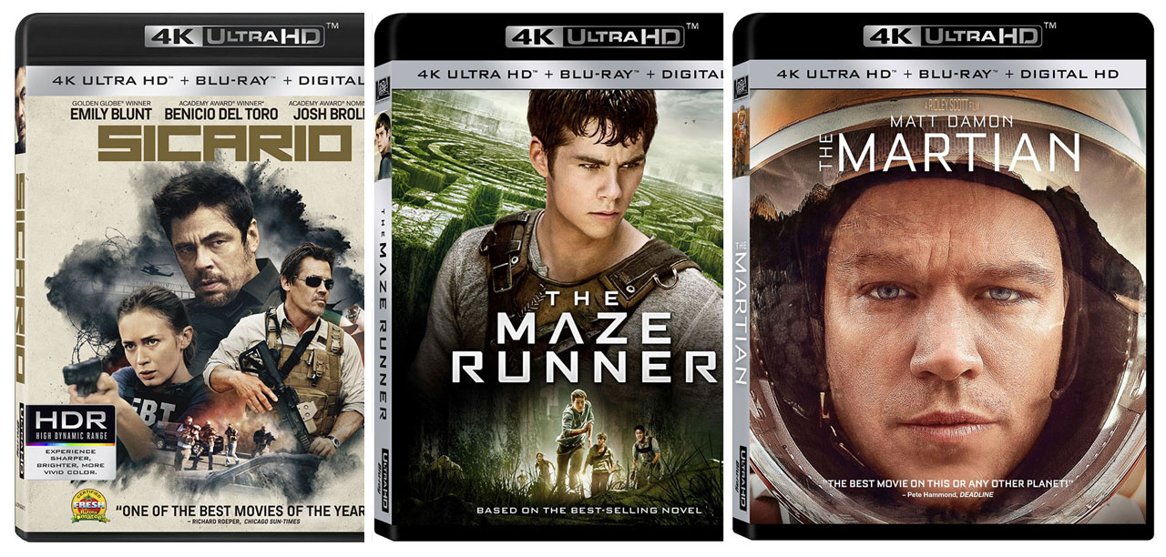 First 4k Ultra HD Blu-ray Movies available from Fox, Lionsgate, & Warner Bros. – HD Report