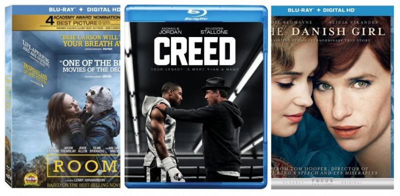 Oscar Films Creed, Room, & The Danish Girl now on Blu-ray
