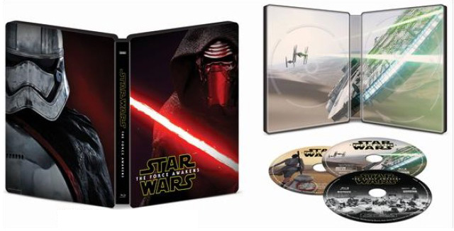 star wars the force awakens blu-ray best buy exclusive open