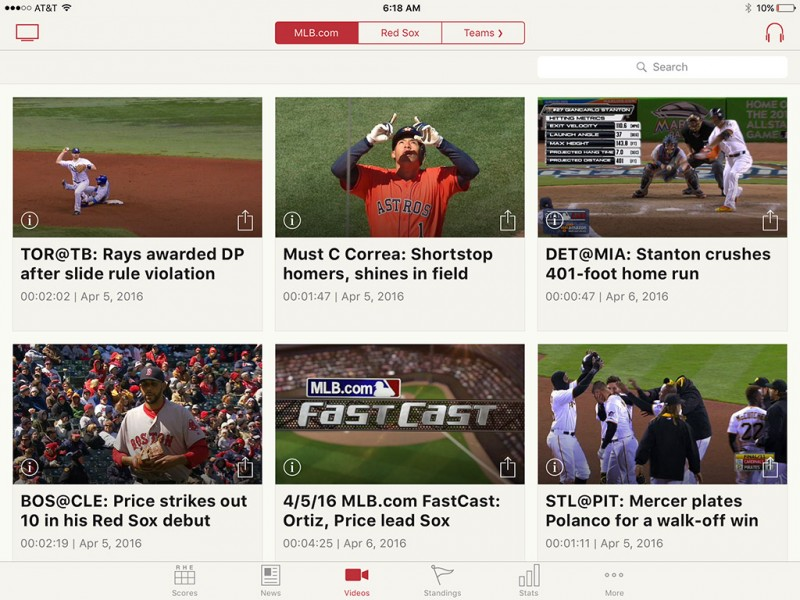 MLB App Now Streaming in 60fps