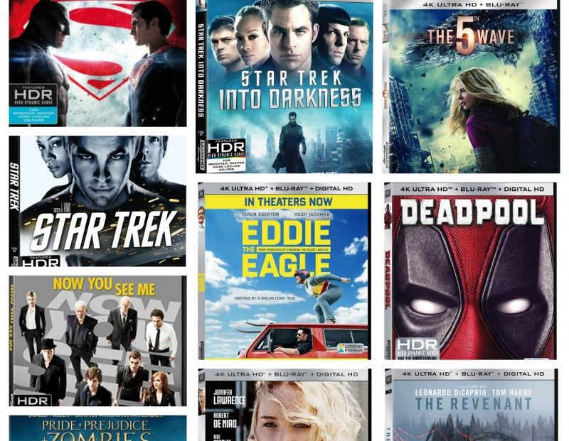 New Movies Coming to 4k Ultra HD Blu-ray Disc