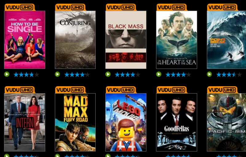 Vudu, How About a Sale on 4k UHD Movies?