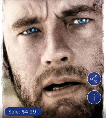 Tom Hanks 'Cast Away' Digital HD is $4.99 from iTunes Today