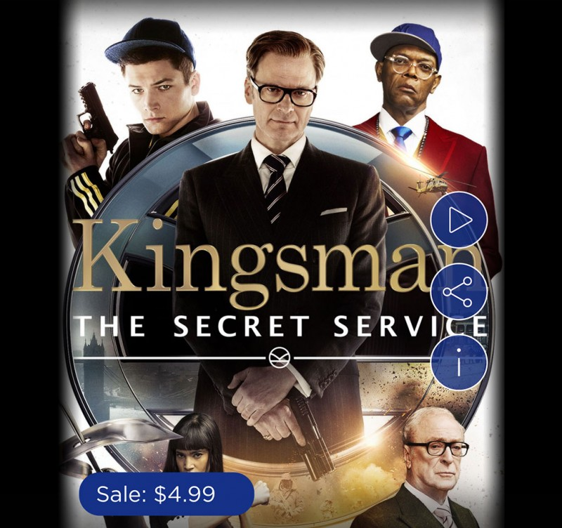 Kingsman: The Secret Service Digital HD Only $4.99 Today
