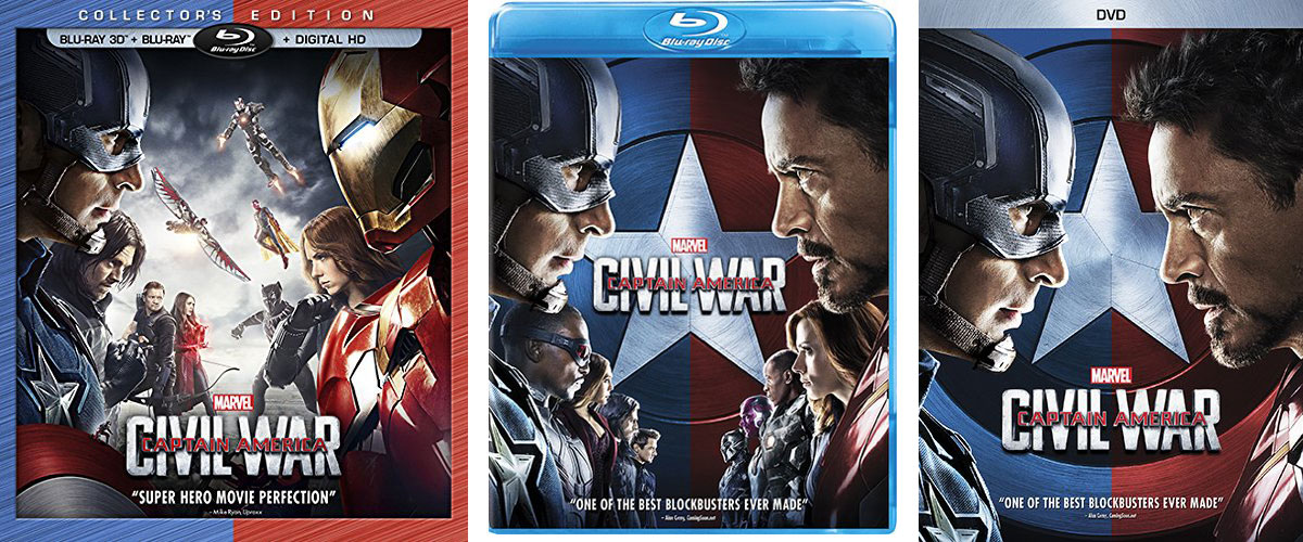 Captain America Civil War Blu Ray Digital Release Dates