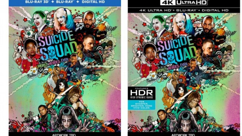 Suicide Squad Blu-ray & 4k Ultra HD Blu-ray Available For Pre-order
