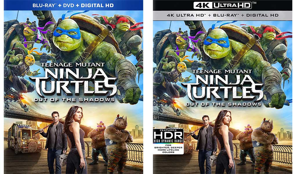 Teenage Mutant Ninja Turtles Out Of The Shadows Blu Ray