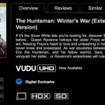 Vudu 4k UHD/HDR Supporting TVs & Devices