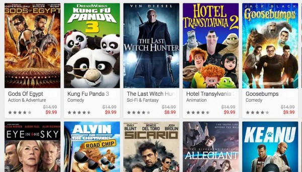 google play movies sale labor day weekend 2016