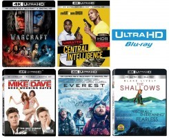 This Week's New 4k Ultra HD Blu-ray Releases With HDR
