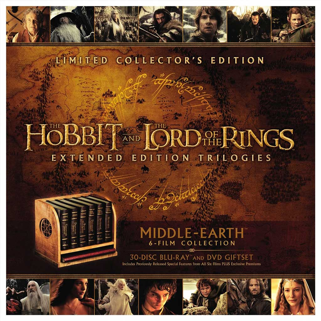 Middle-Earth Collector's Edition Packages All Peter Jackson Tolkien Films