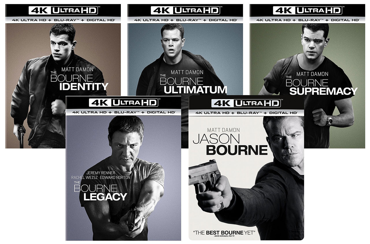 Jason Bourne Films Releasing to 4k Blu-ray with HDR & DTS ...