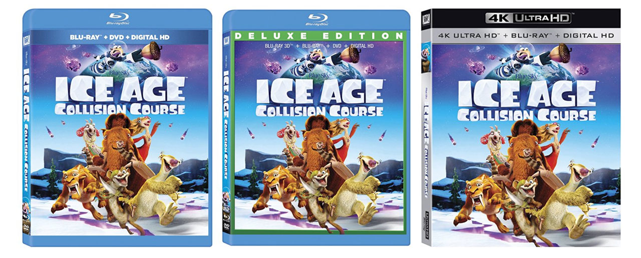 Ice Age Collision Course Released To 4k 3d Amp 2d Blu