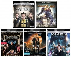 New 4k Ultra HD Blu-ray Titles This Week